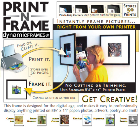 All the ways to use your Print-n-Frame!