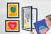 Includes a 12x18, 9x12 and 8.5x11 LD Kids art cabinet