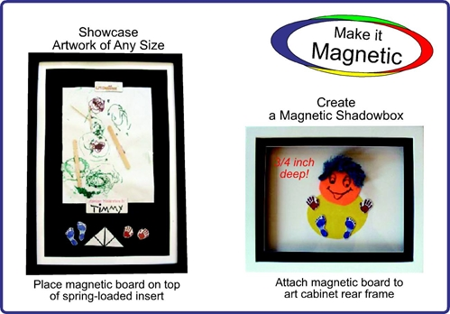 discounted lil davinci 85x11 magnetic shadowbox set 2 frames 2 magboards