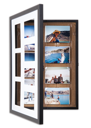 Amost 60% off! Pinster Pix with small paint defects:  Use as 7-Photo Display & Store, OR as Corkboard Shadowbox!