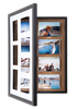 Pinster Pix:  Use as 7-Photo Display & Store, OR as Corkboard Shadowbox!