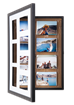 Amost 60% off! Pinster Pix with small paint defects:  Use as 7-Photo Display & Store, OR as Corkboard Shadowbox! - DFP-RCT-M7-SD