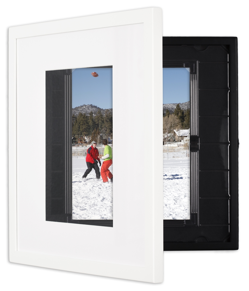 Discounted 6-pack of Dynamic Squares for 8.5x11 prints, photos, or artwork. Shown here in White finish.